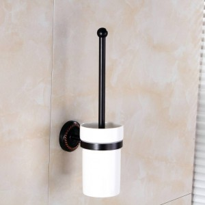 Toilettenbürstenhalter Keramiktasse Antik Messing Toilettenbürsten Home Deco Wand Badezimmerzubehör Toilettenbürstenhalter 9149K