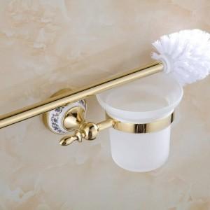 Toilettenbürstenhalter Chrom Metall Material Toilettenbürstenhalter Set Keramik Badaccessoires Wandbürste ST-6709