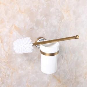 Toilettenbürstenhalter Luxus Antik Finish Toilettenbürstenhalter Mit Keramiktasse Haushaltsprodukte Badezimmer Dekoration 9068K