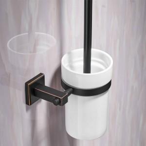 Toilettenbürstenhalter WC-Bürsten-Reiniger im modernen Stil aus Keramik für das Badezimmer WC-Bürste mit langem Griff für zu Hause 601009