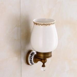 Toilettenbürstenhalter Wandmontierte Badezimmerprodukte Messing & Kristall Badezimmerdekorationszubehör Badezimmerzubehör 9219K