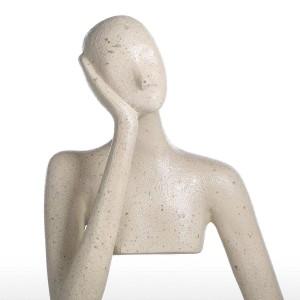 2 Arten von Leere Denken Harz Figur Post Moderne Kunst Wohnkultur Figur Handwerk Geschenk Für Home Office