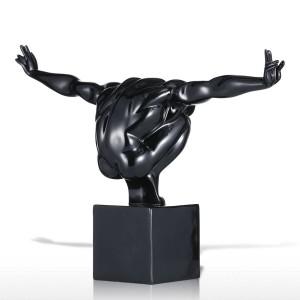 Black Diver Statue Fiberglas Skulptur Home Decoration Zubehör modernen Dekor nach Hause