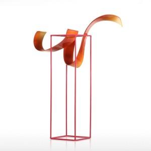 Bud Freistehende Skulptur-Abstrakt Innen / Außen Moderne Metall Skulptur Tisch Wohnkultur Zeitgenössisches Herzstück