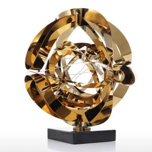 Traum Blume Skulptur moderne Metall abstrakte Figur Edelstahl Handwerk Geschenk für Office Home Dekoration Zubehör