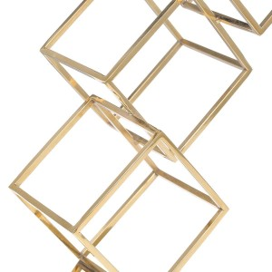 Figur Cube abstrakte Ornament Galvanik Handwerk Home Decor modernen Stil für Office Home Dekoration Zubehör