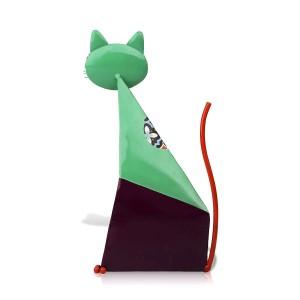 Fortune Cat Figur Miniatur Metall Tierfigur Dekoration pastoralen bunte Kunst Statuette Handwerk Geschenk für Zuhause