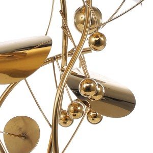Obst Skulptur Modernen Stil Wohnkultur Figur Edelstahl Statue Abstrakt für Büro Dekoration Zubehör