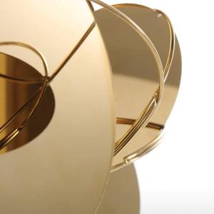 Goldene Spiegel Moderne Figuren Wohnkultur Abstrakte Handwerk Ornament Metall Skulptur Innenausbau Zubehör