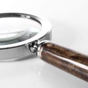 Lupe mit Silber Hirschkopf Metallrahmen Lesewerkzeug Arbeitszimmer Schreibtisch Dekoration Praktisches Werkzeug Lupe Wohnkultur