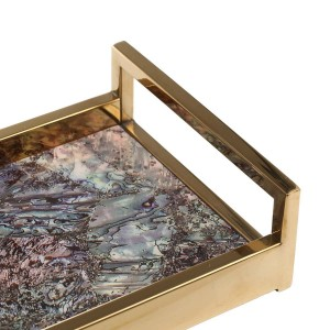 Rechteckige Holzklavier Backlack Technologie Tee Obsttablett Kaffee Dekoration Tablett