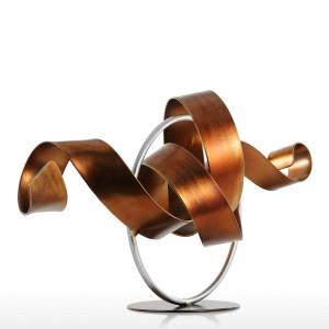 Statue Wriggle Moderne Skulptur Abstrakte Skulptur Metall Abstrakte Skulptur Eisen Dekoration Raum Schreibtisch Ornament