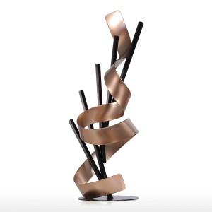 Gerade Linie und Band Metall moderne abstrakte Skulptur Home Decor Neujahr Geschenk Wohnaccessoires Figur