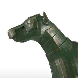 Rüstungs-Hundefiberglas-Skulptur-Inneneinrichtung-ursprüngliche Entwurfs-Hundegrafik für Innenministerium