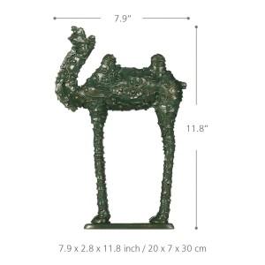 Wolke Muster Kamel Figur Fiberglas Figur Wohnkultur Original Design grün Kamel Handwerk Geschenk für Zuhause