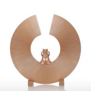 Fortune Cat Resin Sculpture Moderne Kunst Wohnkultur Statue Figurine Ornament Für Home Office
