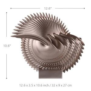 Harz Figur lässt Fiberglas Miniatur Figur Home Decor Miniatur Spine Leaf Craft Geschenk für Zuhause