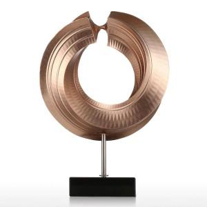 Twist Figur Fiberglas Figurine Home Decor Original Design Kreis elegante Handwerk Geschenk für Hausgarten