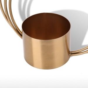 Tooast Blumentopf Metall Ornament Zylinderform Griff Vase Modische Ornament Herzstück für Zuhause Hochzeit Tisch dekorativ