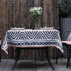 Top Tischdecke Für Hochzeitsdekor Weihnachtsgeschenk Kreative Geometrie Tischdecke Abdeckungen Nappe Ronde Mariage Obrusy, toalha de mesa