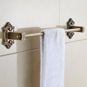 Handtuchhalter Einzelne Schiene Antik Massivem Messing Wandregal Handtuchhalter Aufhänger Bad Regale Badzubehör Handtuchhalter LAD-71224
