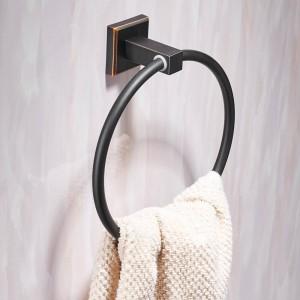 Handtuchringe Moderne Schwarze Wand Handtuchhalter Kleiderbügel Handtuchhalter Badzubehör Wohnkultur Kupfer Handtuchhalter 601007