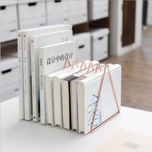Dreieckige Metall Tisch Ablage Regal Rose Gold Nordic Schreibtisch Ablagekorb Magazin Papier Dokumente Organizer Home Decor