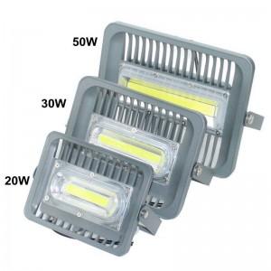 Ultradünne LED Flutlicht 50W hohe Helligkeit Aluminium AC110V 220V Eingang wasserdicht Outdoor COB LED Flutlicht Scheinwerfer für DIY