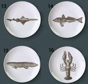 Unterwasserwelt Thema Fischteller Retro Kreative Snack Bar Hotel Home Dekorative Teller Handbemalte Muster Diy Teller