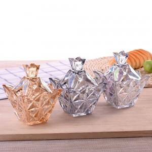 Vielzahl von bunten Diamanten Glas Candy Jar Round mit Deckel Aufbewahrungsbox Süßigkeiten kreative transparente Zuckerdosen Würfel Vorratsbehälter