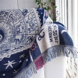 Vintage exotischen Stil werfen Decke Geschenk dekorative Cobertor Manta Para Sofa / Betten Travel Plaid rutschfeste Nähte Decken Quaste