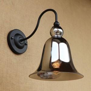 Vintage Glasmalerei Wandleuchten Beleuchtung Horn Form Glas Lampenschirm Retro Wandleuchten für Schlafzimmer Nacht Loft Bar Treppengang