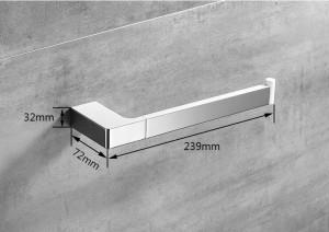 Weißer an der Wand befestigter Tuch-Haken-quadratischer Tuch-Schienen-Stab-Zink-Legierungs-Tuch-Gestell-Halter Polierter Tuch-Ring für Küche-Badezimmer 5780