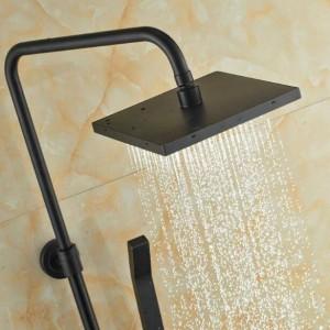 Wandhalterung Gute Qualität Badezimmer Regen Dusche Mischbatterie Set Einhand Badewanne Brausebatterie mit Wanneneinlauf XT352