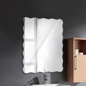 Wavy rahmenlose Badezimmerspiegel Wandbehang Bad wasserdicht Spiegel Schlafzimmer Wohnzimmer Veranda Kosmetikspiegel wx8231141