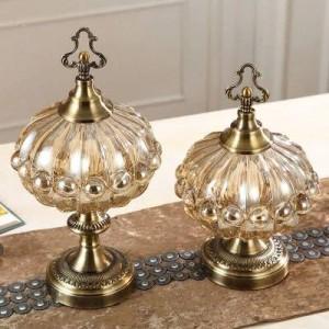 Hochzeitsdekoration Luxus weichen Ornamenten Lagertank Küche europäischen Stil Wohnzimmer Teetisch mit Bonbonglas Abdeckung