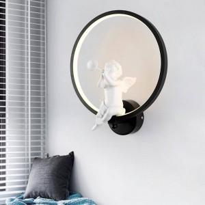 Weiß / Schwarz Acryl Kreative Moderne Led Wandleuchte Engel kind schlafzimmer nachttischlampe LED Wandleuchte Badezimmer Wandleuchte Lüster