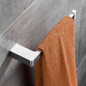 Weiß + Chrom Zinklegierung Handtuchring Kleiderhaken Toilettenbürstenhalter Handtuchhalter Badzubehör Set Papierhalter FM-5700WL