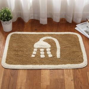 Winter dicke warme Badezimmer Wohnzimmer Bodenmatte Fußmatte zu Hause Schlafzimmer Baumwolle Teppich Bad saugfähige Anti-Rutsch-Matte
