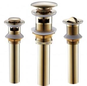 Ohne Überlauf Messing Bad Schwarz / Gold / Antik Waschbecken Pop Up Drain Waschbecken Badprodukte / Zubehör 8416B