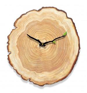Holzmaserung Wanduhr Wohnzimmer Schlafzimmer Stumm Uhr Holzwand Diagramme modernen minimalistischen Hause Jahresring Europäischen Uhren