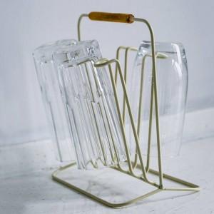 Holzgriff Metallregal Doppelseitige Einfache Nordic Flasche Becher Abfluss Lagerregal Wohnkultur Organizer für Küche