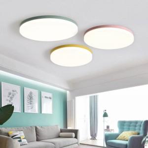 Holz Deckenleuchten Für Wohnzimmer Schlafzimmer leuchte runde oberfläche montiert Deckenleuchte hause Dekorative Lampenschirm deco