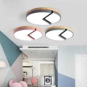 Holzdeckenleuchten fernbedienung Für Wohnzimmer Schlafzimmer leuchte Platz Deckenleuchte hause Dekorative Lampenschirm