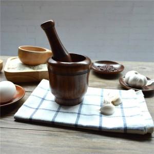 Holz Knoblauch Stampfer Mühlen für Salz / Pfeffer / Obst / Gemüse umweltfreundliche Holz Küche liefert Gewürz Mahlen