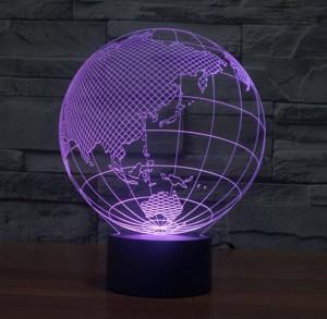 Weltkarte Form Touch neue Nachtlichter Globus Karte Form Acryl 3D Illusion Lampe Kinder Kinder Schlafzimmer Dekoration Led Nachtlampe