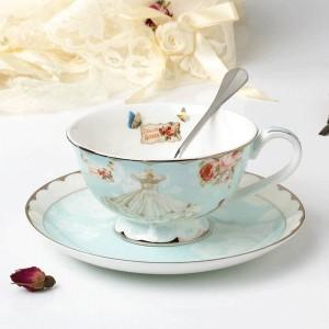 Keramik Teetasse Und Untertasse Set Designer Knochen Kaffeetasse Porzellan Nachmittag Schwarzer Tee Tasse Set Kaffee Set