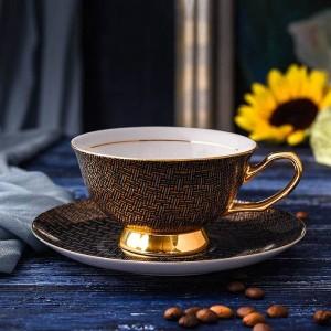 Hochwertige Porzellan Kaffeetassen Vintage Keramik Tassen und Untertassen Set Teetasse Drink für Kaffee