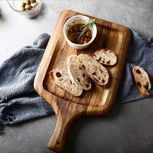 Zebra Holz Ablageschale Mit Diamantgriff Nordic Natürliche Textur Unlackiert Brot Snack Speicherplatte Organizer Wohnkultur